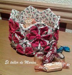 El Taller de Maricú: Tutorial Cesta de Navidad con Origami