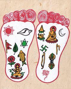 Buddha's Feet w/ Auspicious Symbols