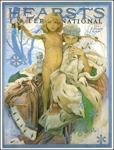 Hearst's International cover by Alphonse Mucha, January 1922