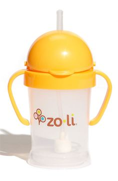 http://www.genderneutralbabyclothes.com/category/zoli-bot-straw-sippy-cup/ ZoLi 'BOT' Cup available at Nordstrom