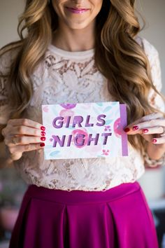 Have a girls night in! http://www.stylemepretty.com/living/2015/05/20/fancy-girls-night-in/   Photography: Whitney Hunt - http://whitneyhuntphotography.com/