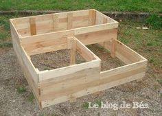DIY carré potager en bois de palette Plus