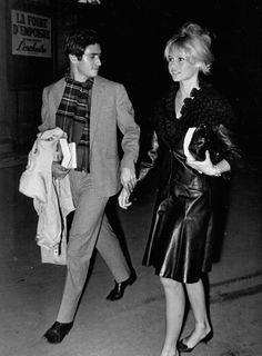 Brigitte Bardot and her boyfriend Sami Frey