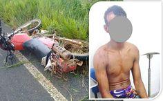 Adolescente furta motocicleta em Ibirajá, cai na BA-290 e é apreendido pela PM