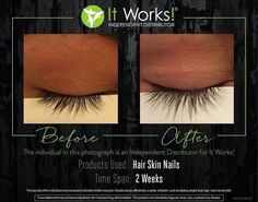 Hair Skin and Nails doesn't just help to grow out our hair! It also grows out your eyelashes, strengthens your nails, and makes you skin glow! (: