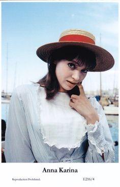 Anna Karina Movie Star Actress Glamour Modern 2000 Photo Postcard | eBay