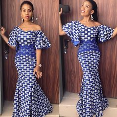Get this specially crafted Ankara six pieces mermaid dress. Available in all US sizes and other African prints. Kindly message us to see available prints We offer drop shipping and take bulk orders We ship world wide Processing takes Ankara Styles For Women, Ankara Short Gown Styles, Beautiful Ankara Styles, Ankara Gowns, Ankara Dress, Ankara Skirt And Blouse, Dress Styles, Latest African Fashion Dresses, African Dresses For Women