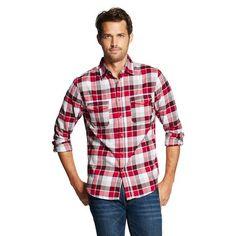 Men's Button Down Shirt Red Plaid - Merona™