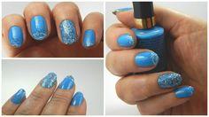 Manicuria color azul cielo +glitter