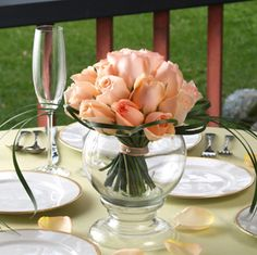 12 Centerpiece : peach