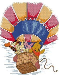 winnie the pooh hot balloon schemi_cartoni_animati_016 free cross stitch pattern