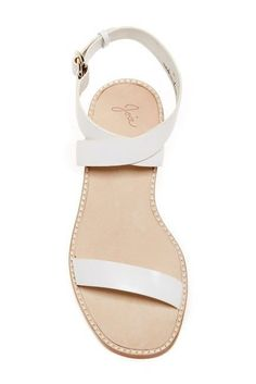 b6436e632e296f New Joie Kaden Crisscross Flat Sandal White Latte Woman s Size 38  288   fashion  clothing