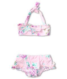 0120485d1b Seafolly Kids Rococo Rose Halter Skirtini (Infant Toddler Little Kids)  Sorbet -