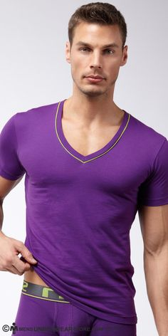 Eric Allen for Men's Underwear Store (2013) #EricAllen #EricRichAllen #malemodel #model #malesupermodel #supermodel #MC2Models #FordModels_Chi #KimDawsonModels #MensUnderwearStore #underwear #undershirt #CIN2 #purple
