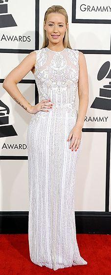 Work, work, work! Iggy Azalea in Elie Saab at the 2014 Grammy Awards