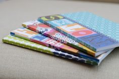 set of 4 notebooks. perfect gift idea. great for writers. order online at tre bella.