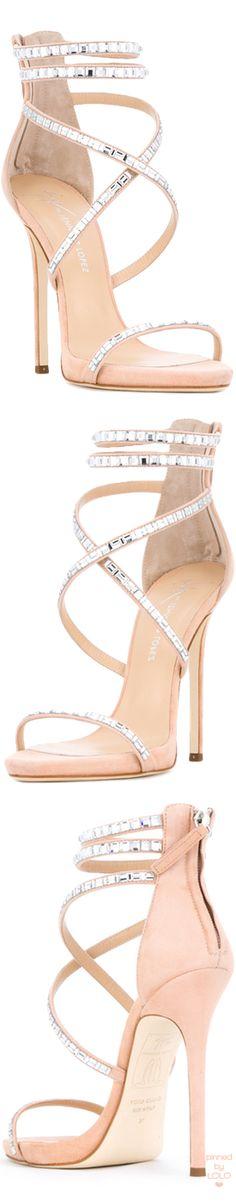 GIUSEPPE ZANOTTI X Jennifer Lopez Coline Suede/Crystal Sandal