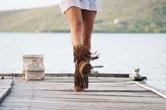 Botas altas de flecos cowboy – Cositas de España