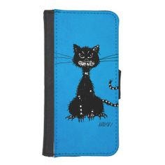 Blue Ragged Evil Black #Cat #iPhone 5 Wallet Cases $23.95 #iphonecase