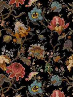 WITCH & WATCHMAN - SIBERIA DARK WALLPAPER - WALLPAPER - MULTICOLOR - LUISAVIAROMA - Length: 10 meters Width: 52cm . Weight: 1.3kg. Covers 5.23 sq meters per roll. Pattern repeats every 104cm with a drop of 52cm . Apply wallpaper paste directly to wall . Non-woven paper
