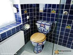 Mexiko-Toilette Talavera WC