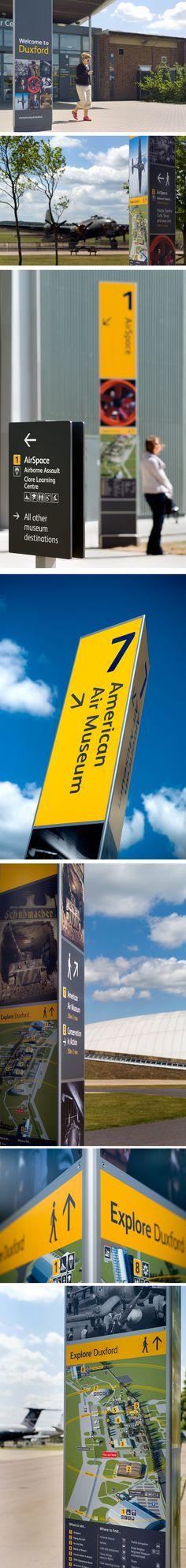 Wayfinding & signage design for the Duxford air museum. Designed by ABG Design #sign #design #signagedesign #navigation #graphic #design #graphicdesign #designinspiration #printdesign #branding #orientation #museum #museumbrand #museumidentity #museumwayfinding #museumsignage