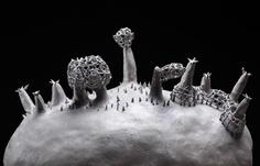 """Nostalgie du Futur"" - ceramic landscape by Elisabetta Gendre"