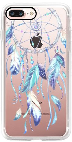 Casetify iPhone 7 Plus Case and other Boho iPhone Covers -Watercolor Blue Dreamcatcher by Ruby Ridge Studios | Casetify