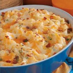 Mashed potatoes are always a great side dish!
