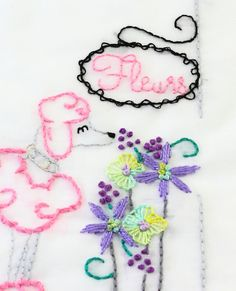 poodle embroidery