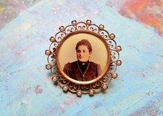 Antique Victorian Mourning Pin Rose Gold by IfindUseekVintage, $50.00