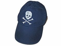 Rugby Ralph Lauren Polo Navy Blue White Skull Crossbones Baseball Hat Cap  Skull And Crossbones 35a11360118b