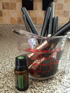 Cleaning makeup brushes with natural products. doTERRA melaleuca oil comes to the rescue to save my very expensive brushes www.onedoterracommunity.com https://www.facebook.com/#!/OneDoterraCommunity