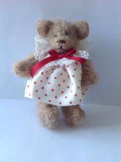 "Artist Dollhouse Miniature Dressed Bear 1/12"" Scale"