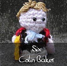 Dr Who - Sixth Doctor by Nyss Parkes (These mini Doctors do come in one single download, but they simply must be represented individually!) Free Pattern: http://www.ravelry.com/download/146980/free  #TheCrochetLounge #DrWho Collection