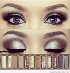 Naked 2 Palette - makeup for blue eyes tutorial