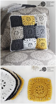 Free Crochet Pillow Patterns To Brighten Up Your Home DIY Home Decor I have roun. - Free Crochet Pillow Patterns To Brighten Up Your Home DIY Home Decor I have rounded up some cute an - Crochet Pillow Cases, Crochet Pillow Patterns Free, Crochet Cushion Cover, Crochet Cushions, Sewing Pillows, Free Pattern, Cute Crochet, Crochet Yarn, Crochet Stitches