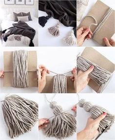 Creating awesome homemade cozy diy does not require serious artistic talent. - Creating awesome homemade cozy diy does not require serious artistic talent. Get… Creating awesome homemade cozy diy does not require serious artistic talent. Rope Crafts, Yarn Crafts, Creation Deco, Diy Wall Decor, Easy Diy Room Decor, Diy Decoration, Home Decor, Diy Art, Diy Gifts
