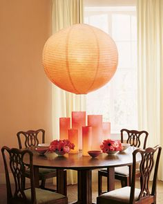Ombre lanterns and hurricane covers help the sunset last all night, even if the party moves indoors.