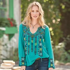 MILA EMBROIDERED TUNIC