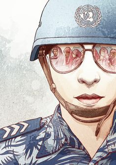 Women in the UN Peacekeeping for Perspective Magazine by Bartosz Kosowski, via Behance