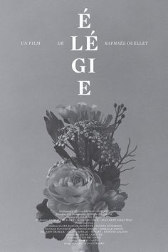Graphic Design / élégie court-métrage by catherine d'amours.