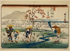 VISION (Utagawa Hiroshige (Japanese: 歌川 広重, 1797 - 1858)...) Double Exposition, Vincent Van Gogh, Mont Fuji, Hokusai, Kuniyoshi, Art Japonais, Kirigami, Woodblock Print, British Museum