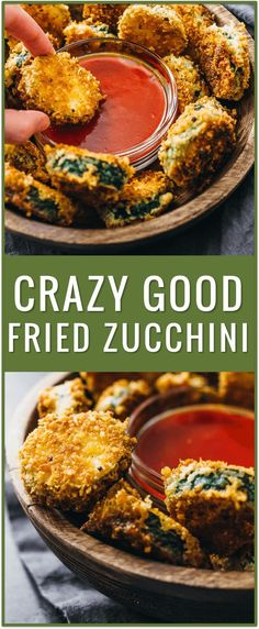 Crazy good fried zucchini, pan fried zucchini with flour, easy fried zucchini recipe, best fried zucchini dipping sauce, oven fried zucchini, zucchini sticks, families, zucchini chips, deep fried, batter, healthy, skillet via @savory_tooth