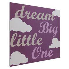 Dream Big Script Wall Art - Purple