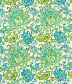 Amy Butler Dancing Paisley Limestone Fabric - $8.95 | onlinefabricstore.net
