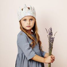 For all the budding royals out there, this beautiful crown is brought to you by Fable Heart exclusively for Little Cloud. It is handmade in the UK using beautiful Liberty print. Fashion Room, Kids Fashion, Kids Dress Up, Liberty Print, Kid Styles, Little People, Children Photography, Gifts For Kids, Kids Outfits