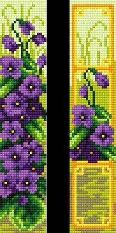 Cross Stitch Bookmarks, Cross Stitch Art, Cross Stitch Flowers, Counted Cross Stitch Patterns, Cross Stitch Designs, Crochet Bedspread Pattern, Bead Crochet Patterns, Beading Patterns, Seed Bead Flowers