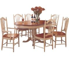 Cottage 60 Inch Pedestal Table W/ 18 Inch Leaf At Deets Furniture Store