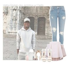 """Visiting Mosteiro dos Jerónimos w/ Carrillo"" by erika-sads ❤ liked on Polyvore featuring Milly, Forever New, Michael Kors, LORAC, soccer, football, rose, benfica and carrillo"